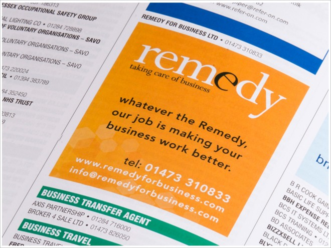Remedy For Business Advert
