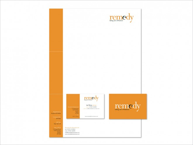 Remedy For Business Stationery