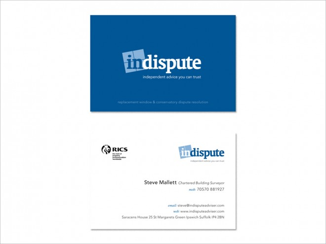 Indispute Business Cards