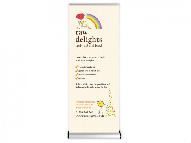 Raw Delights Pop Up Banner