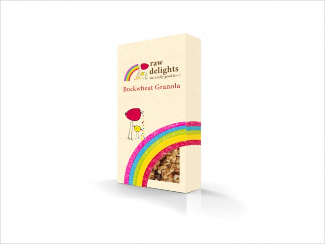 Raw Delights Granola Packaging