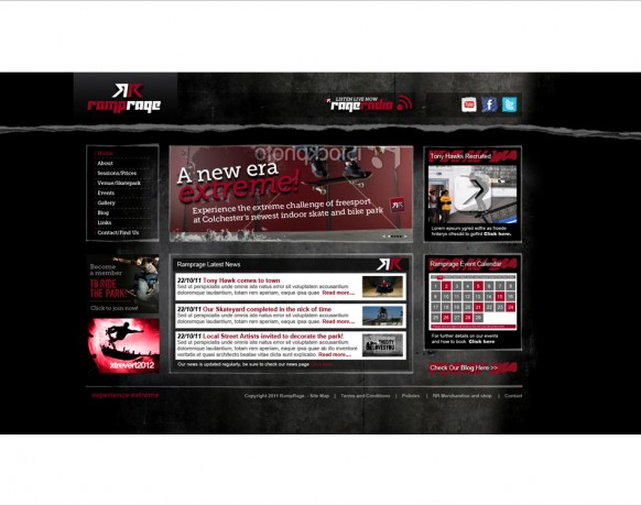Ramprage_Website_HomePage
